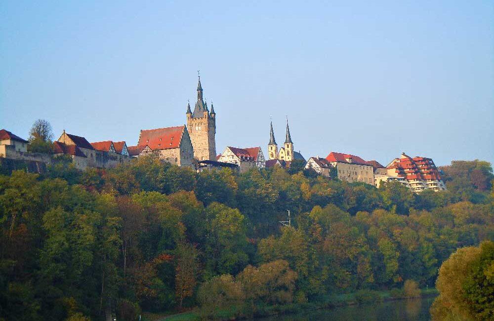 ドイツのバート・ヴィンプフェンの美しい街並み