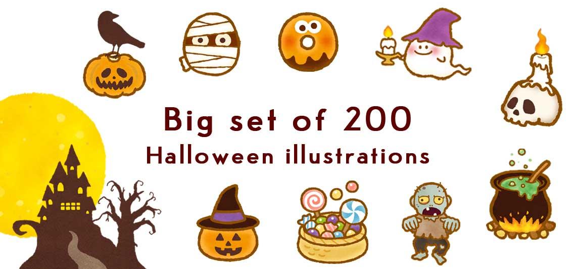 a cute illustration of halloween