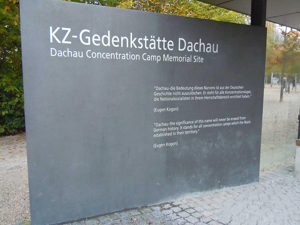 ミュンヘンのダッハウ強制収容所跡地