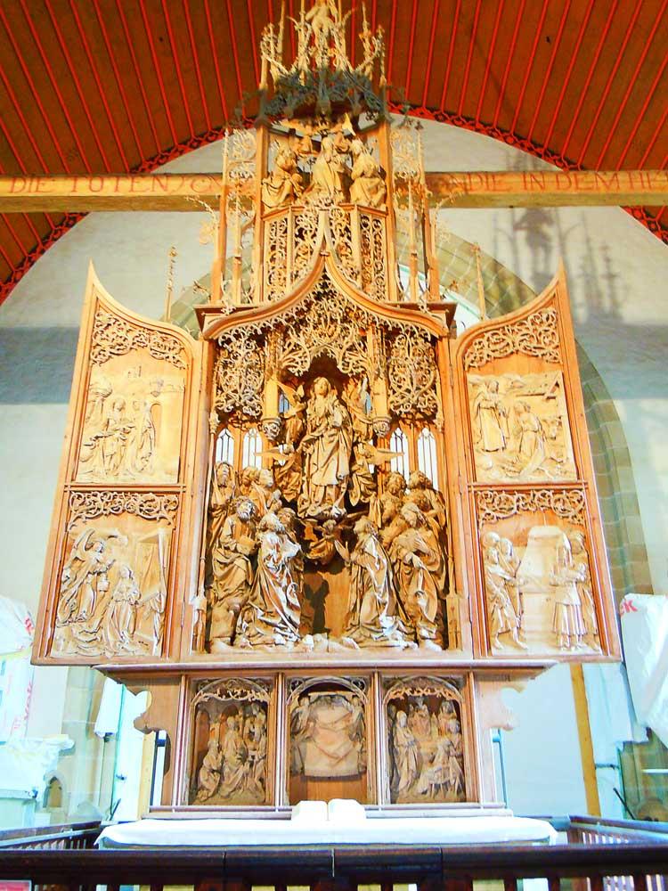 【ヘルゴット教会】リーメンシュナイダーの傑作をたずねて/クレクリンゲン
