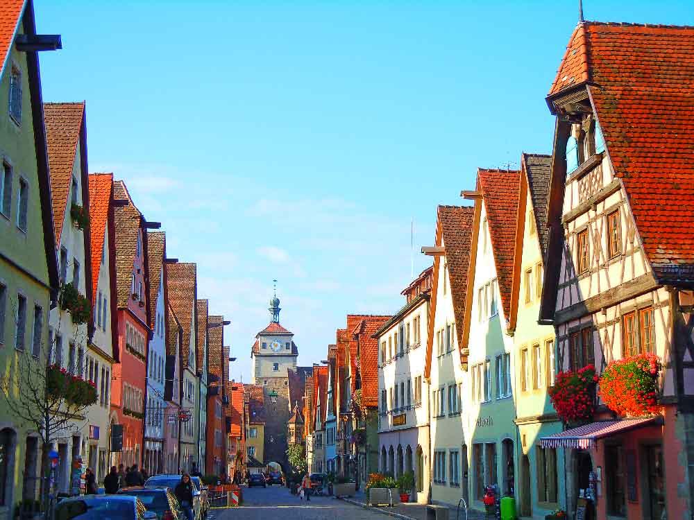 ドイツのローテンブルクの街並み