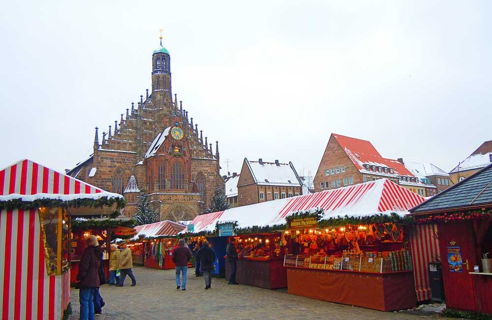 ドイツのニュルンベルクのクリスマスマーケット