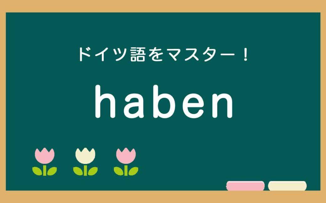 ドイツ語のhabenの使い方の説明